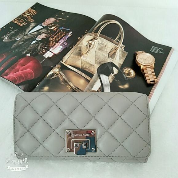 6173d7d05ddca3 MICHAEL Michael Kors Bags   Michael Kors Quilted Large Wallet In ...
